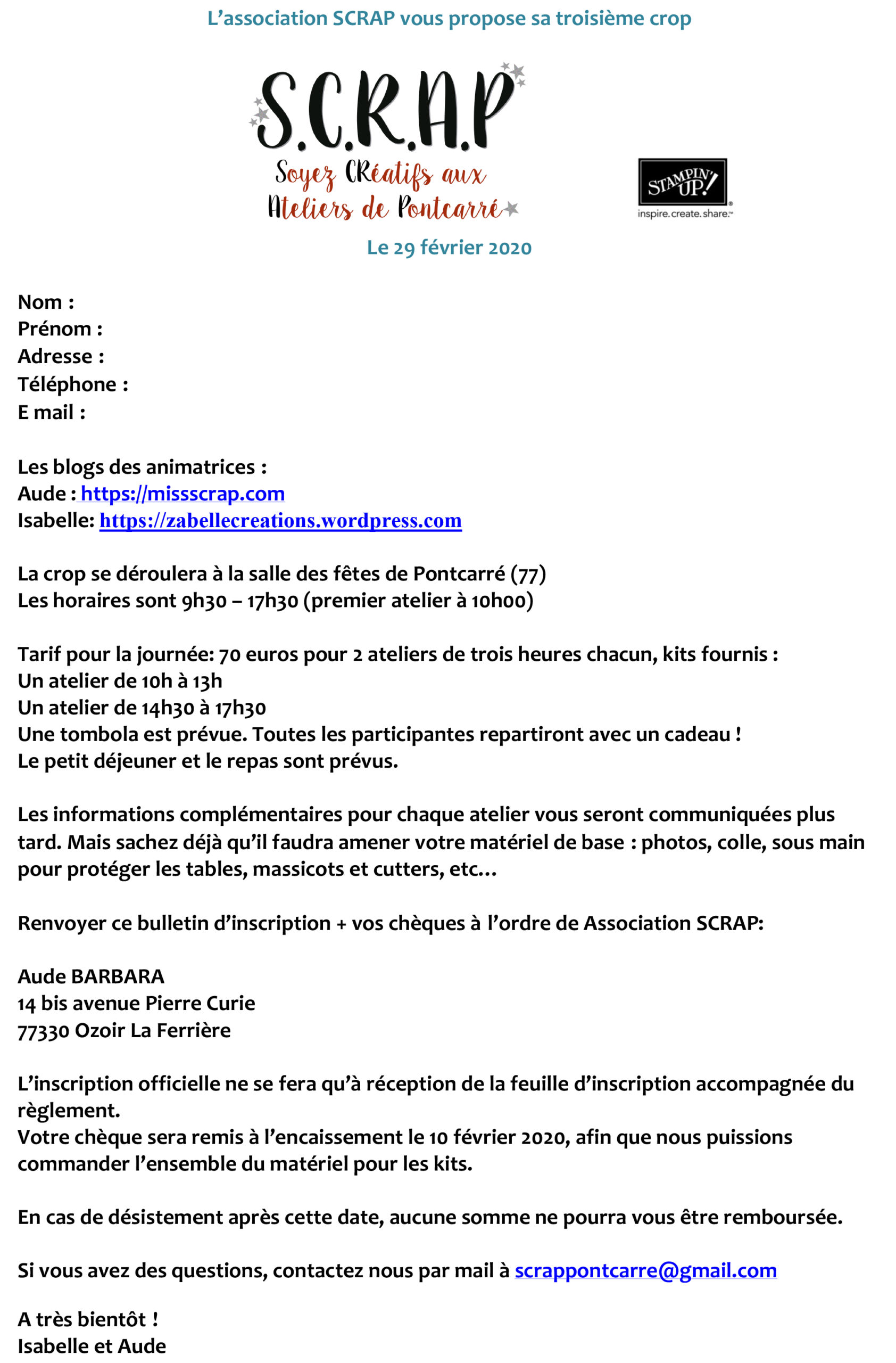 Microsoft Word – Bulletin d'inscription crop février 2020 SCRAP